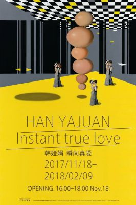 HAN YAJUAN - INSTANT  TRUE  LOVE (solo) @ARTLINKART, exhibition poster