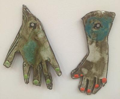 POLLY APFELBAUM - DUBUFFET'S FEET MY HANDS (solo) @ARTLINKART, exhibition poster