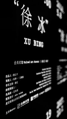 XU BING (solo) @ARTLINKART, exhibition poster