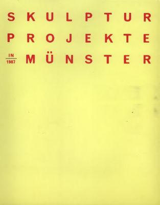SCULPTURE EXHIBITION IN MüNSTER, 1987 (intl event) @ARTLINKART, exhibition poster