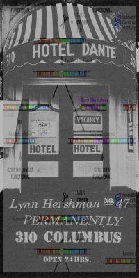 LYNN HERSHMAN LEESON - THE NOVALIS HOTEL (solo) @ARTLINKART, exhibition poster