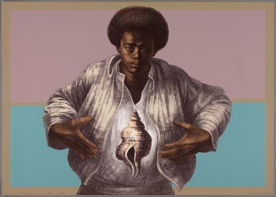 CHARLES WHITE - A RETROSPECTIVE (solo) @ARTLINKART, exhibition poster
