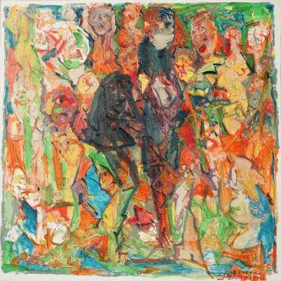 """ZHENG ZHOU - """"2014"""" (solo) @ARTLINKART, exhibition poster"""