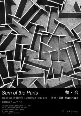 MATT HOPE - SUM OF THE PARTS (solo) @ARTLINKART, exhibition poster