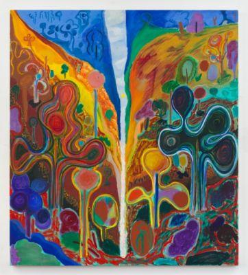 SHARA HUGHES - STICKS AND STONES (solo) @ARTLINKART, exhibition poster