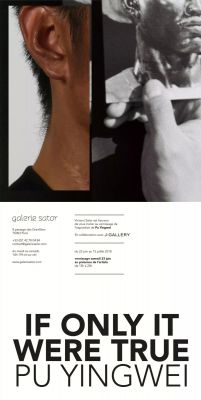 PU YINGWEI - IF ONLY IT WERE TRUE (solo) @ARTLINKART, exhibition poster