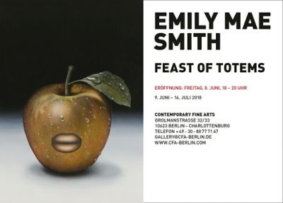 EMILY MAE SMITH - FEAST OF TOTEMS (solo) @ARTLINKART, exhibition poster