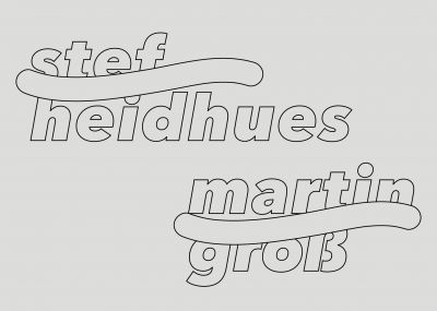 STEF HEIDHUES, MARTIN GROß (group) @ARTLINKART, exhibition poster