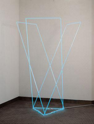 NEON IN DAYLIGHT - FRANçOIS MORELLET (solo) @ARTLINKART, exhibition poster