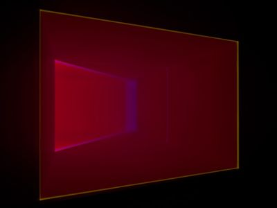 DEPTH PERCEPTION - JAMES TURRELL (solo) @ARTLINKART, exhibition poster