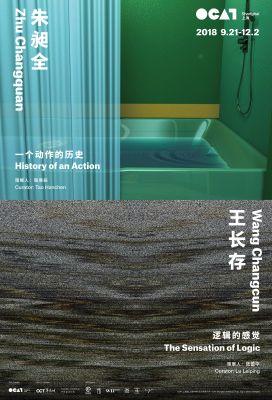 WANG CHANGCUN: THE SENSATION OF LOGIC & ZHU CHANGQUAN: HISTORY OF AN ACTION (solo) @ARTLINKART, exhibition poster