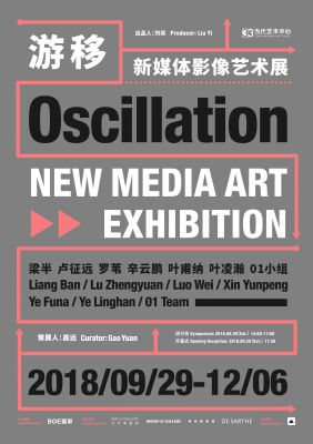 OSCILLATION - NEW MEDIA ART EXHIBITION (group) @ARTLINKART, exhibition poster