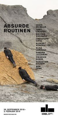 ROUTINISED ABSURDITY (group) @ARTLINKART, exhibition poster
