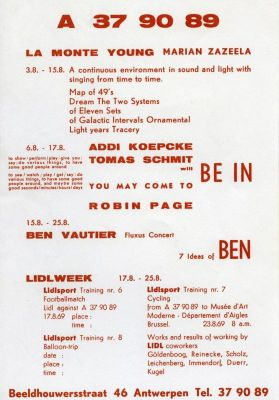 A 37 90 89 - THE INVENTION OF THE NEO-AVANT-GARDE (group) @ARTLINKART, exhibition poster