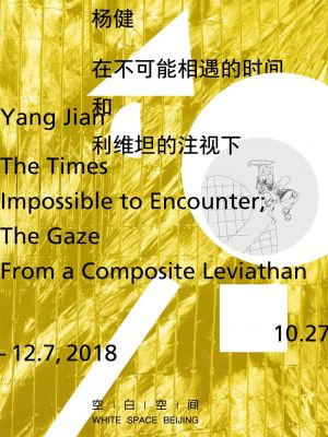 THE TIMES IMPOSSIBLE TO ENCOUNTER; THE GAZE FROM A COMPOSITE LEVIATHAN (solo) @ARTLINKART, exhibition poster