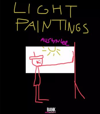AUSTIN LEE - LIGHT PAINTINGS (solo) @ARTLINKART, exhibition poster