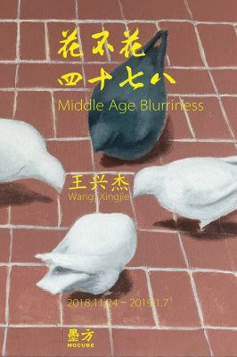 WANG XINGJIE - MIDDLE AGE BLURRINESS (solo) @ARTLINKART, exhibition poster