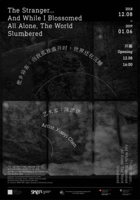 XIAOYI CHEN - THE STRANGER…AND WHEN I BLOSSOMED,ALL ALONE,THE WORLD SLUMBERED (solo) @ARTLINKART, exhibition poster