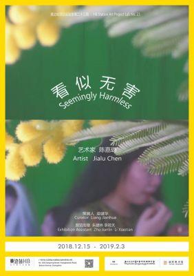 SEEMINGLY HARMLESS - JIALU CHEN (solo) @ARTLINKART, exhibition poster