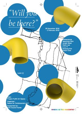 WILL YOU BE THERE? (group) @ARTLINKART, exhibition poster