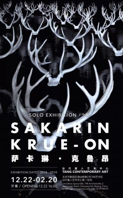 SAKARIN KRUE-ON (solo) @ARTLINKART, exhibition poster
