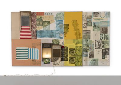 ROBERT RAUSCHENBERG - SPREADS (solo) @ARTLINKART, exhibition poster