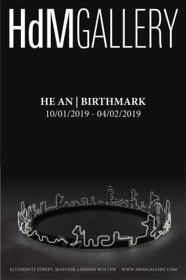 HE AN - BIRTHMARK (solo) @ARTLINKART, exhibition poster