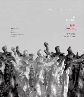 ZHAN WANG - THE INVISIBIE (solo) @ARTLINKART, exhibition poster