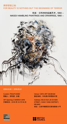 FOR BEAUTY IS NOTHING BUT THE BEGINNING OF TERROR - MAGGI HAMBLING PAINTINGS AND DRAWINGS, 1960- (solo) @ARTLINKART, exhibition poster