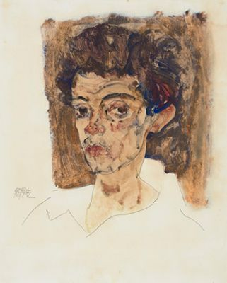 EGON SCHIELE - IN SEARCH OF THE PERFECT LINE (solo) @ARTLINKART, exhibition poster