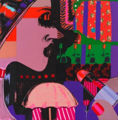 ELLEN BERKENBLIT - PAINTINGS (solo) @ARTLINKART, exhibition poster