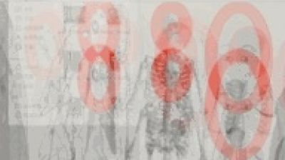 DAKOTA GUO - 丿皿 A CASE STUDY OF BLOODLETTING (solo) @ARTLINKART, exhibition poster