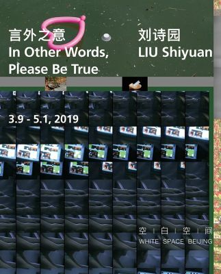 LIU SHIYUAN - IN OTHER WORDS, PLEASE BE TRUE (solo) @ARTLINKART, exhibition poster