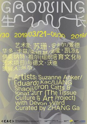 GROWING (group) @ARTLINKART, exhibition poster
