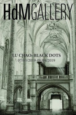 LU CHAO - BLACK DOTS (solo) @ARTLINKART, exhibition poster