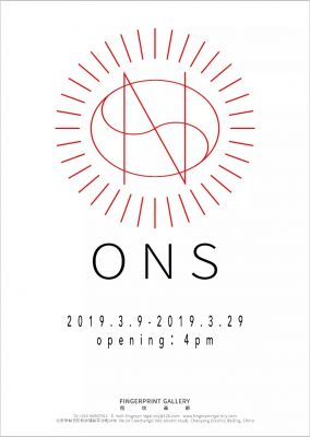 ONS (group) @ARTLINKART, exhibition poster