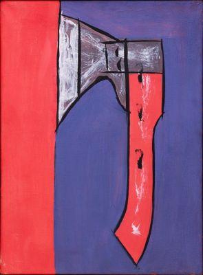 FLORIN MITROI  - STUDIOSAURUS FEROX. FLORIN MITROI, WORKS OF ART 1974–2002 (solo) @ARTLINKART, exhibition poster