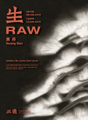 HUANG DAN - RAW (solo) @ARTLINKART, exhibition poster