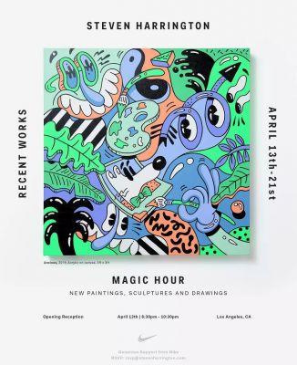 STEVEN HARRINGTON - MAGIC HOUR (solo) @ARTLINKART, exhibition poster