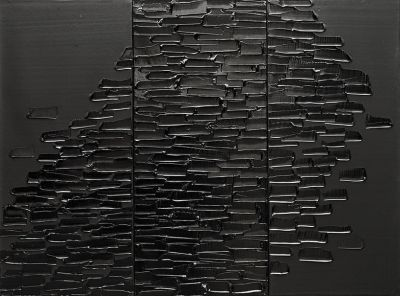PIERRE SOULAGES (solo) @ARTLINKART, exhibition poster