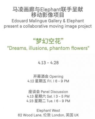DREAMS,ILLUSIONS,PHANTOM FLOWERS (group) @ARTLINKART, exhibition poster