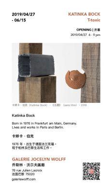 KATINKA BOCK - T-TOXIC (solo) @ARTLINKART, exhibition poster