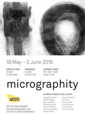MICROGRAPHITY (group) @ARTLINKART, exhibition poster