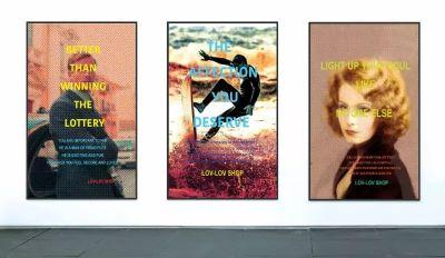 LIN JINGJING - LOV-LOV SHOP (solo) @ARTLINKART, exhibition poster
