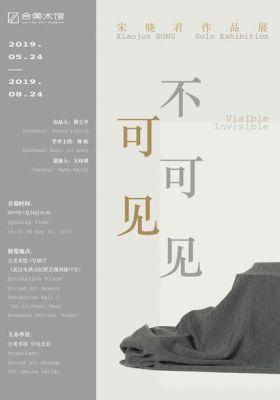 SONG XIAOJUN SOLO EXHIBITION - VISIBLE INVISIBLE (solo) @ARTLINKART, exhibition poster