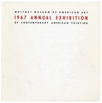 ANNUAL EXHIBITION 1967 - CONTEMPORARY AMERICAN PAINTING (intl event) @ARTLINKART, exhibition poster