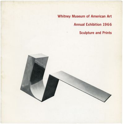 1966 ANNUAL EXHIBITION - CONTEMPORARY SCULPTURE AND PRINTS (intl event) @ARTLINKART, exhibition poster
