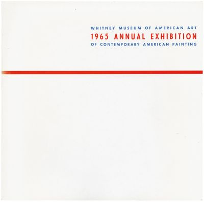 ANNUAL EXHIBITION 1965 - CONTEMPORARY AMERICAN PAINTING (intl event) @ARTLINKART, exhibition poster