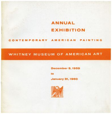 ANNUAL EXHIBITION 1959 - CONTEMPORARY AMERICAN PAINTING (intl event) @ARTLINKART, exhibition poster