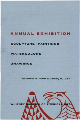 ANNUAL EXHIBITION 1956 - SCULPTURE, PAINTINGS, WATERCOLORS, DRAWINGS (intl event) @ARTLINKART, exhibition poster